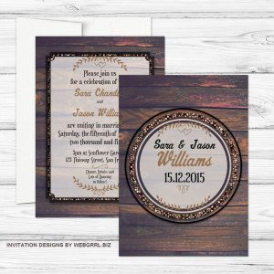 1-WoodTimber-5x7-WEDDING-invite