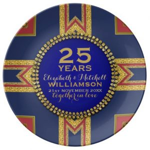 25th_anniversary_plate_red_gold_blue