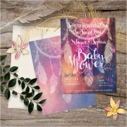 Bohemian mama - Nightsky Dreamcatcher Baby Shower Invitation
