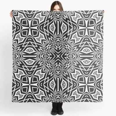black-and-white-tribal-leyana-s4-scarf