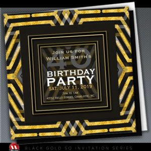 funky_scifi_black_gold_geometry_40th_birthday_card-wm
