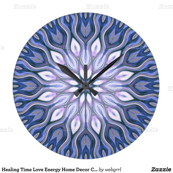 Healing time love energy home decor wall clock