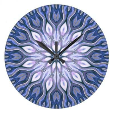 healing_time_love_energy_home_decor_clock-round