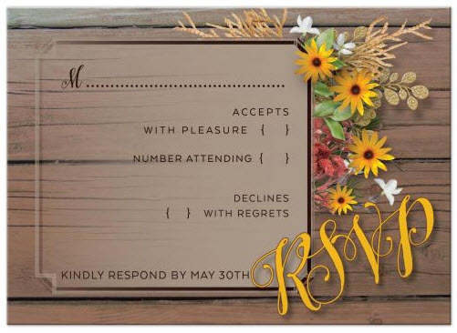 also available: Matching RSVP | Rustic Floral Wedding suite
