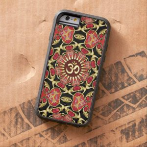 sanskrit_om_gold_red_baroque_iphone_6_case