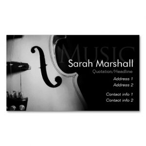 Stylish Violin Musician Business card