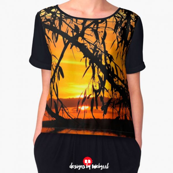 Sunrealism Sunset Gumtree Silhouette | Chiffon Tops