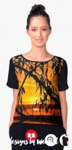 Sunrealism Sunset Gumtree Silhouette | Chiffon Tops