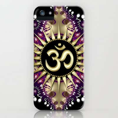 Golden Berry Om Sunshine iPhone Case by Webgrrl | Society6