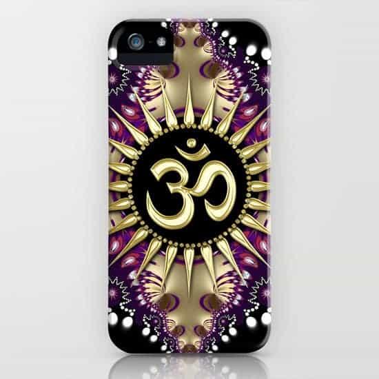 Golden Berry Om Sunshine iPhone Case by Webgrrl | Society6