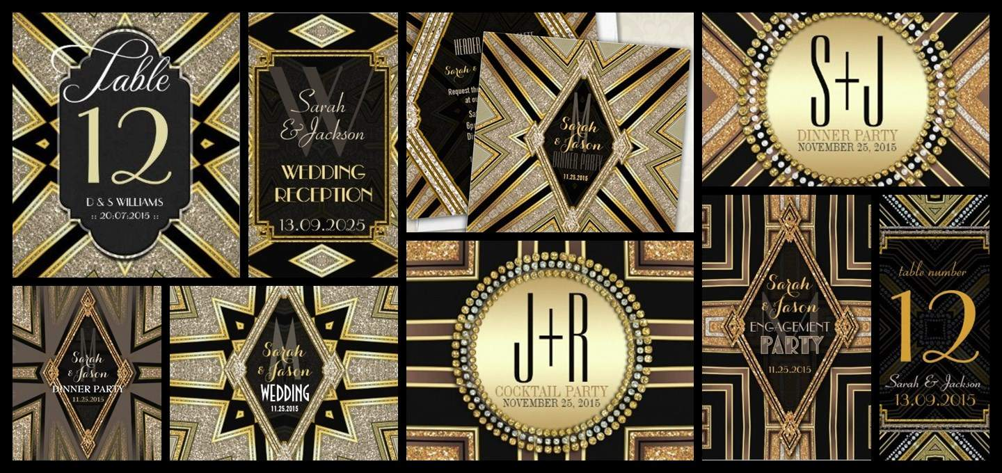 Style Feature : Art Deco Gatsby Glamour Design Collection