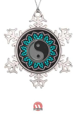 New Age Sparkle Snowflake Pewter Hanging Ornament