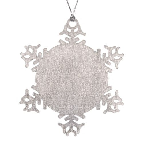 New Age Sparkle Snowflake Pewter Hanging Ornament | back view