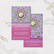 Energy Healing Holistic Pink Sparkle Business Card by onlinecards