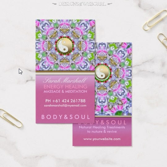 Pink lavender energy healing sparkle business card zazzle energy healing holistic pink sparkle business card by onlinecards reheart Image collections