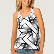 Funky Abstract Black and White pattern fashion Tank Top
