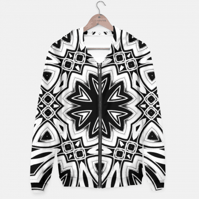 Maya 1- Black White Silver Hexagon Pattern Hoodie by Webgrrl
