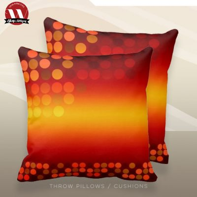 Modern Disco Sunset Big Cushion Pillow