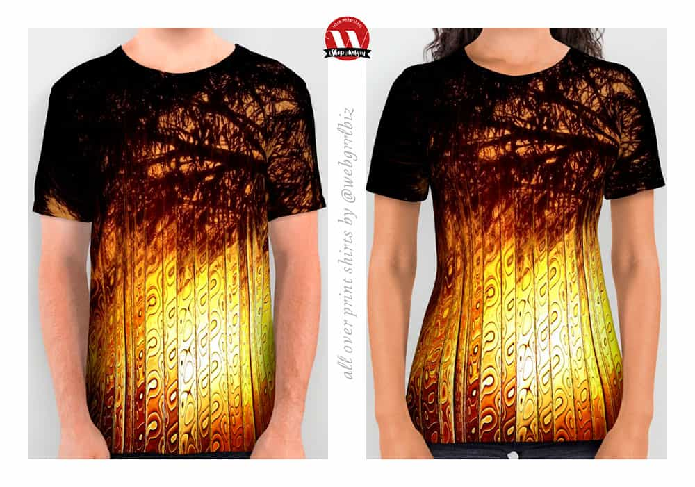 Sunset Silhouettes Beautiful Nature | All Over Print Unisex Shirts by Webgrrl @ Society6