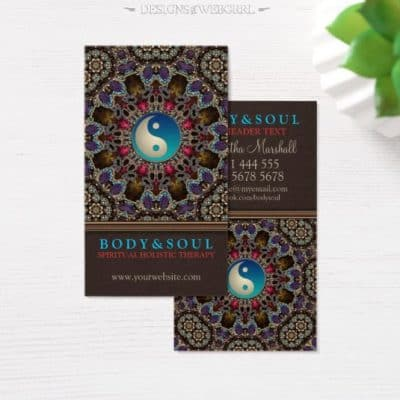 Alternative Eastern YinYang New Age Business Cards