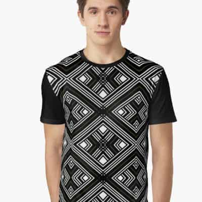 Black White Geo Patterns T1 by Webgrrl | Redbubble