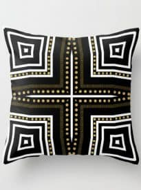 Black White + Gold Cushion | S6