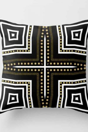 Black White + Gold Cushion | S6