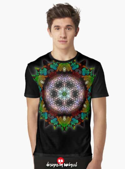 Fruity Glow Geometrica Graphic T-Shirts