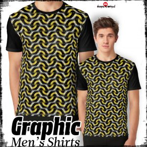 Gold Chain Optical Pattern Graphic T-Shirts | Webgrrl
