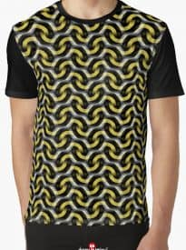 Gold Chain Optical Pattern Graphic T-Shirts | Webgrrl