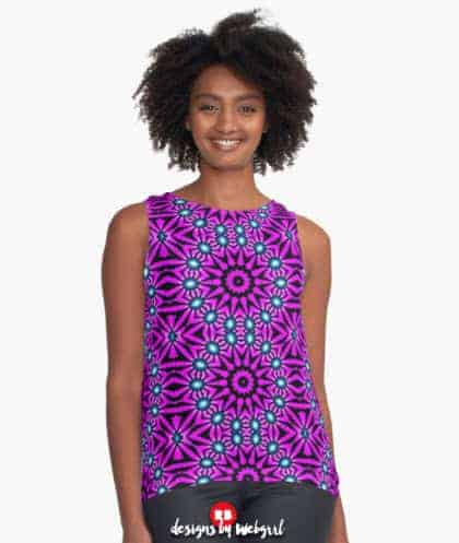 pinkobub Contrast Tanks | Women's Sleeveless Graphic Tops