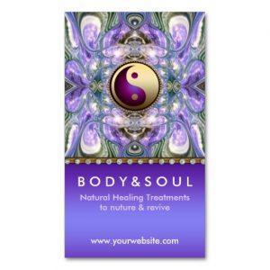 Purple Angelic Energy Healing Holistic New Age Business Card | Zazzle