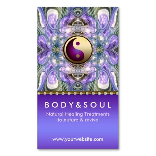 Purple Angelic Energy Healing Holistic New Age Business Card | Zazzle