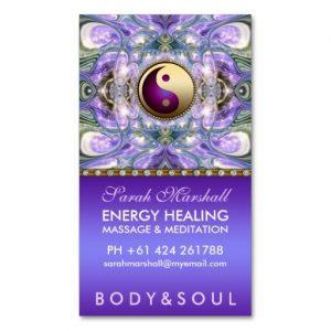 Purple Angelic Healing Holistic New Age Business Card