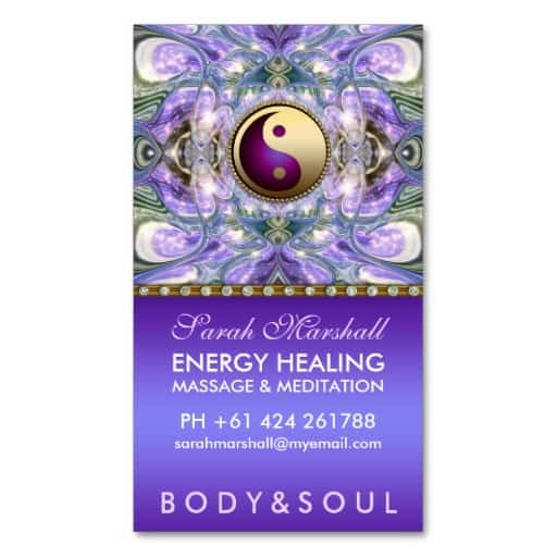 Purple Angelic Healing Holistic New Age Business Card