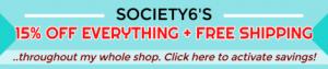 Webgrrl Digital Artistry | Society6 Artist Promo
