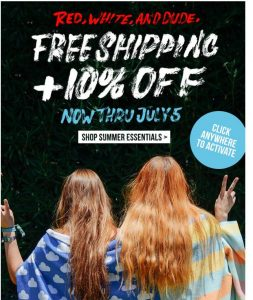 10% OFF + FREE SHIPPING ON EVERYTHING TODAY!
