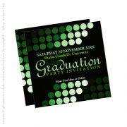 Modern Environment (Green) Graduation Invitation by Paperstation