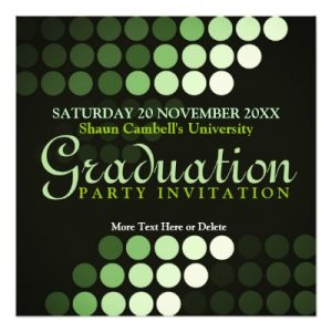 Modern Environment (Green) Graduation Invitation by Webgrrl | Zazzle