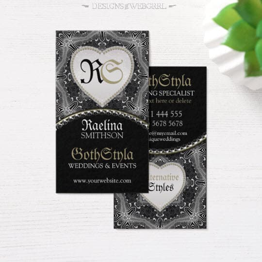 Alternative Gothic Dark & beautiful Business Card
