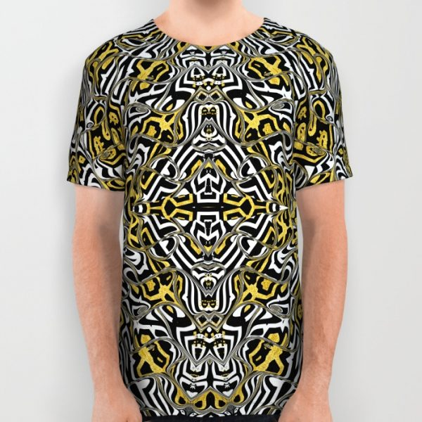 aztec-gold-black-bold-pattern_all-over-print-shirt