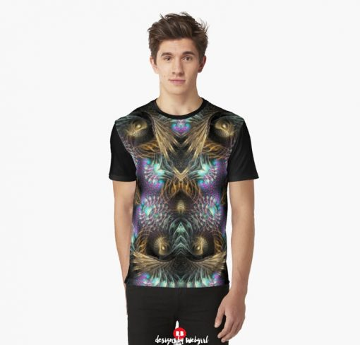 Fractotem - Fractals Scifi Shell Swirls Graphic T Shirt | Redbubble