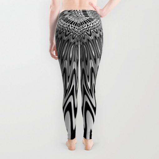 Liquid Reflections Black+Gray Leggings by Webgrrl | Society6