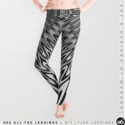 Liquid Reflections Black+Gray Leggings by Webgrrl | Society6