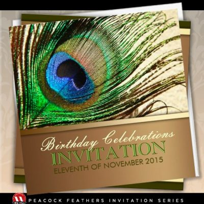 Peacock Goddess Feather Birthday Party Invitation by Paperstation