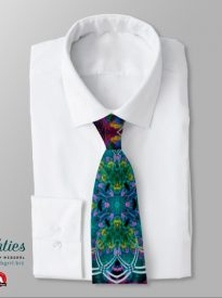 Psychedelic Chakra Fractals Templia Tie by webgrrl