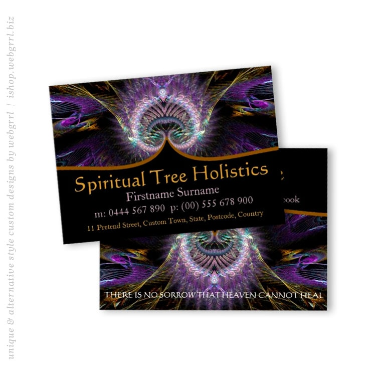 Spiritual Tree Holistic Business Cards By Webgrrl Onlinecards Zazzle