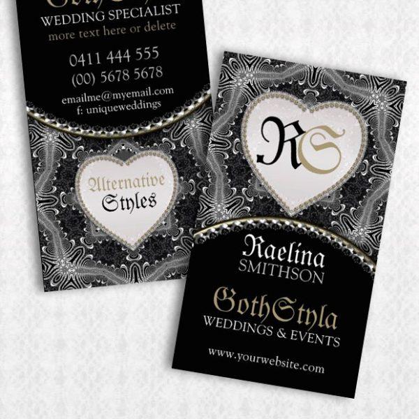 Alternative Gothic Dark & beautiful Business Card