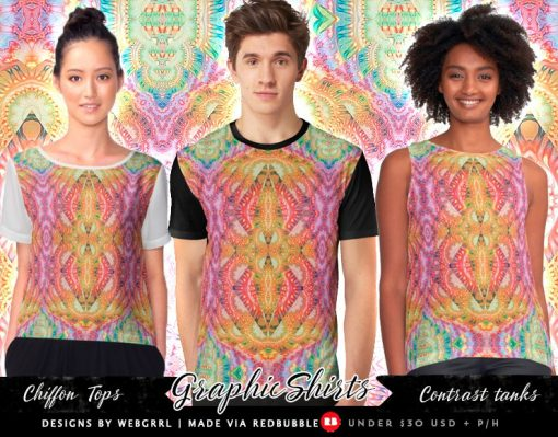 Psydefx Psychedelic Trippy 1 - Graphic Fashion Tops   designed by Webgrrl