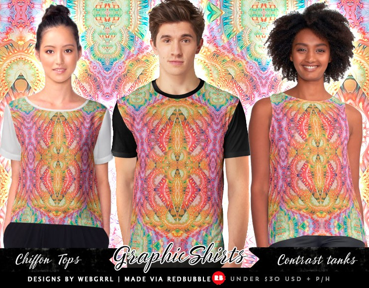 Psydefx Psychedelic Trippy 1 - Graphic Fashion Tops | designed by Webgrrl